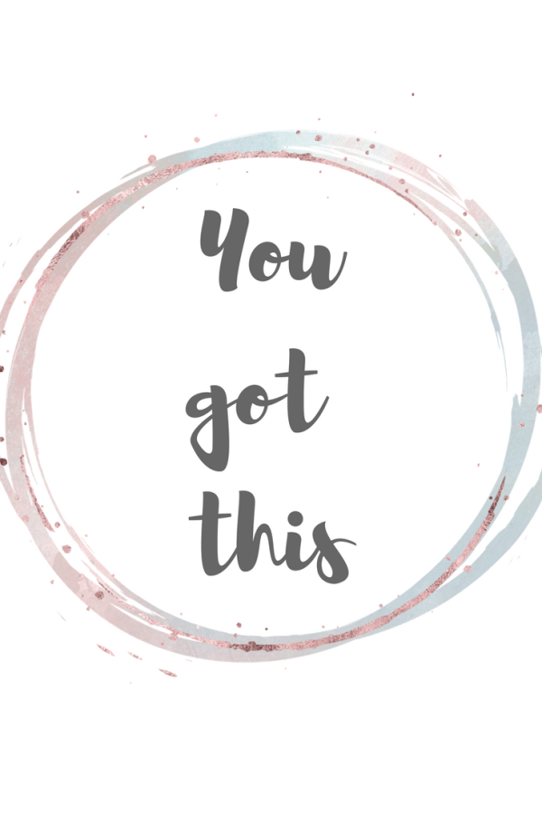 Free printable birthing / labour affirmations. You got this.
