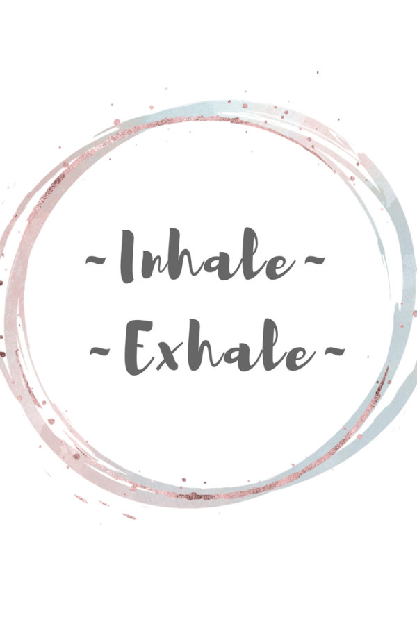 Free birthing / labour affirmation. Inhale, Exhale.