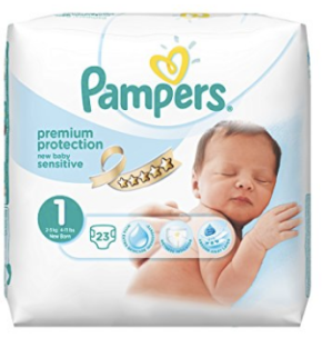 Pampers wee indicator nappies