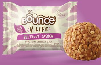 Bounce vegan protein energy ball beetroot