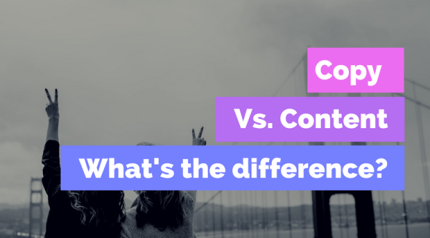 Copy vs content writing - what's the difference?